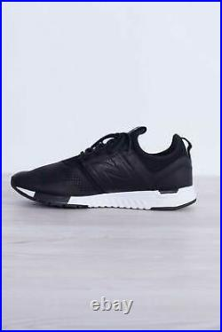 NEW BALANCE Men 247 V1 black luxe leather sneakers