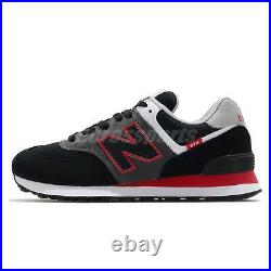 New Balance 574 Black Grey Red Men Women Unisex Casual Shoes Sneakers ML574SM2 D