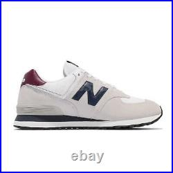 New Balance 574 NB Grey Navy Red White Men Casual Lifestyle Shoes ML574HX2 D