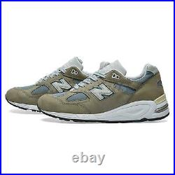 New Balance 990 Made In USA Green Grey Men Unisex Casual Lifestyle M990KBM2 D